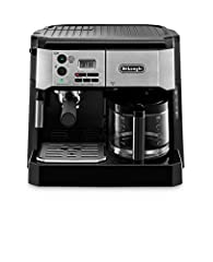 For Espresso and drip coffee lovers alike, The De'Longhi combination pump espresso/drip Coffee machine, BCO430BM, offers the best of both worlds. This all-in-one machine prepares Coffee, cappuccino, espresso and even lattes to perfection usin...