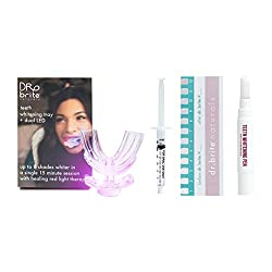 Dr. Brite Teeth Whitening Kit with Dual LED Tray Light, Teeth Whitening Gel & Stain Remover Pen for Teeth Stains