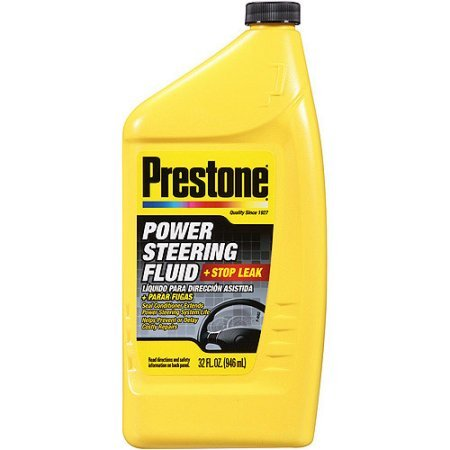 Prestone Power Steering Fluid Plus Stop Leak, 32 oz (Excalibur Flask)