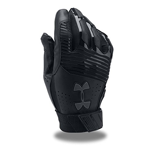 Under Armour Men's Clean Up Baseball Batting Gloves, Black (005)/Graphite, -