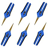 GROWNEER 6-Pack Pruning Shears with Curved Blades Gardening Hand Pruning Snips Titanium Coated Precision Blades