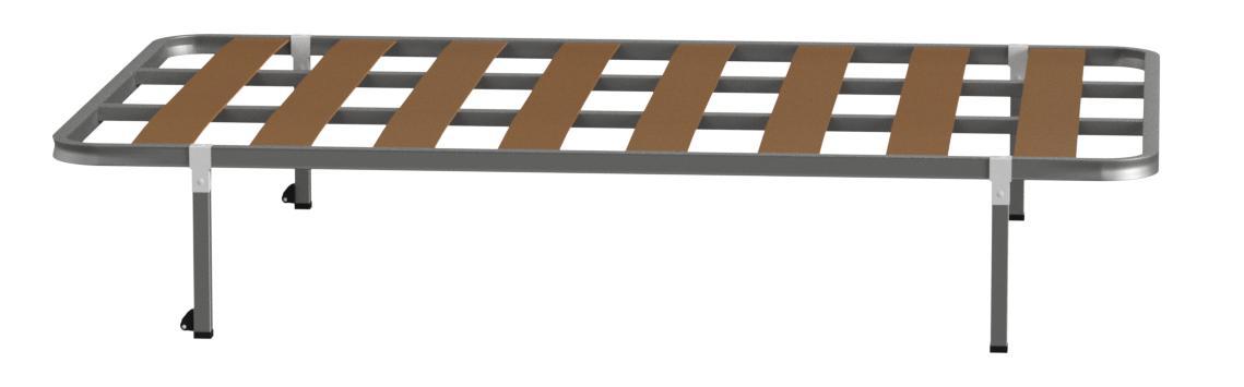 HOGAR24 Somier Somieres con Patas cuadradas + Ruedas, Tubo 30x30. Fabricación Nacional- 120x180cm-PATAS 32CM