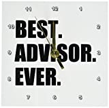 3dRose dc_179751_1 Best Advisor Ever-Bold Black Text-Fun Work and Job Pride Gifts-Desk Clock, 6 by 6-Inch Review