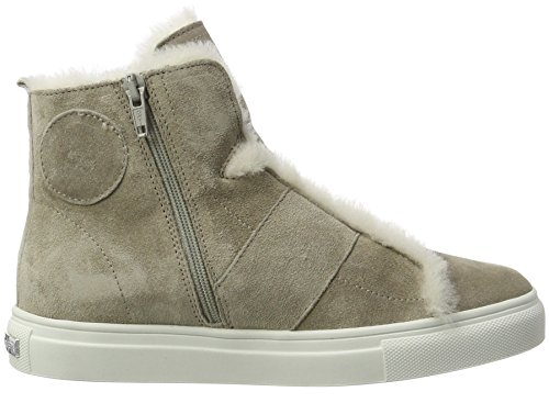 Kennel En Schmenger Vrouwen Mand Hoge Sneaker Grijs (olifant / Natuur Zool Wit)