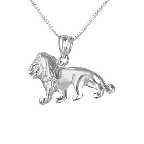 Italian Charm Lion - Sterling Silver Lion Charm / Pendant, Made in USA, 18