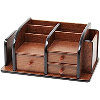 office wooden table. Cherry Brown Office Wooden Desk Organizer With 3 Drawers And Multiple Shelves/Racks For Table T