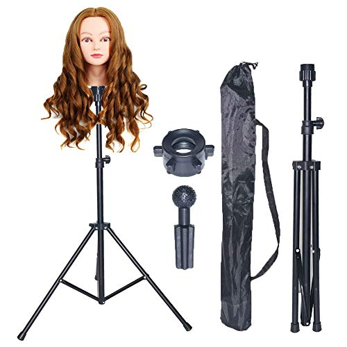 Used, Borogo Wig Stand Tripod Metal Adjustable Cosmetology for sale  Delivered anywhere in USA