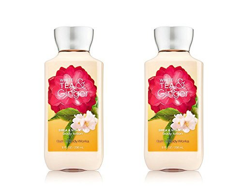 - Bath & Body Works White Tea & Ginger Shea & Vitamin E Body Lotion NEW FORMULA (Pack of 2)