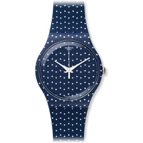Swatch Unisex Blue Polka Dot Watch h