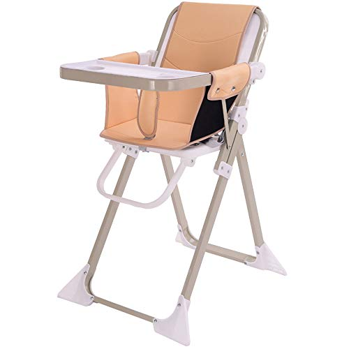- MING REN Baby High Chair - Dinner Chair Seat Multi-Function Foldable Portable Dining Table Chair Baby Stool Child Seat (Color : Brown)