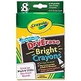 Crayola Dry-Erase, Washable Crayons, Bright Colors, 8 Count