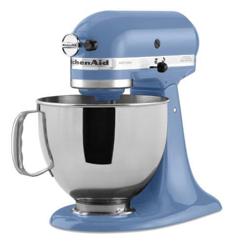 Kitchenaid ksm150psco artisan series 5 qt stand mixer with pouring shield cornflower blue - Kitchenaid accessories walmart ...
