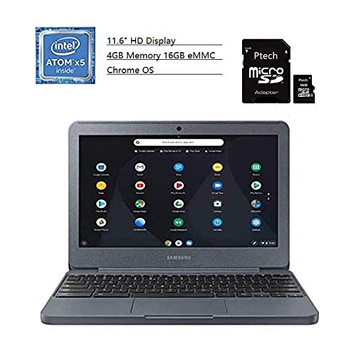 2020 Samsung 11.6″ Screen Chromebook Intel Atom x5 4GB Memory 16GB eMMC Flash Memory Chrome OS Laptop + TSBEAU 16GB Micro SD Card