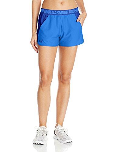 Under Armour Play Up Short 2.0 Pantalones Cortos Deportivos, Mujer Azul (Mediterranean)