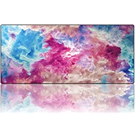 iKammo Large Keyboard Desk Mouse Pad Cute Pink Clouds Mouse Pad -Textured and Waterproof Mousepads Bulk for Office…