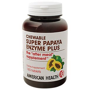 American Health Products – Super Papaya Enzyme +, 180 chewable tablets Review