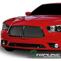 Topline Autopart Matte Black Luxury Sport Mesh Front Hood...