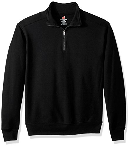 Hanes Men's Nano Quarter-Zip Fleece Jacket, Black, 2X - Zip Mens Quarter Fleece