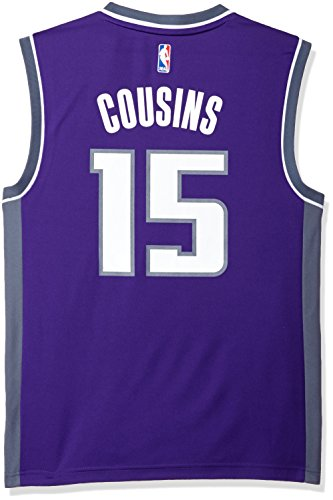 NBA Sacramento Kings DeMarcus Cousins #15 Men's Road Replica Jersey, Large, Purple - Sacramento Kings Jersey