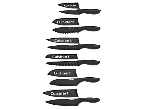 Cuisinart Cutlery Set with Blade Guards, Matte Black (12-Piece)