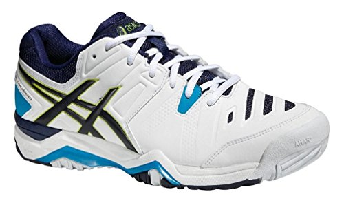 ASICS Gel-Challenger 10 Mens Tennis Shoes E504Y Sneakers Trainers (UK 11.5 US 12.5 EU 47, White Lime Blue 0105) ()