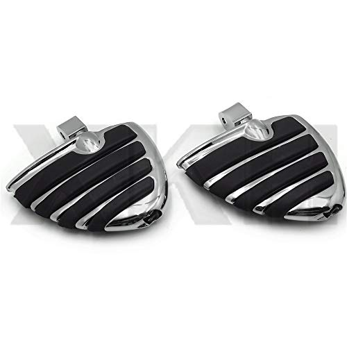 (XKH- Compatible with Honda Fury VT1300 Aero Shadow Phantom Spirit Wing Mini Floorboards with Adapters [B07NSJ495S] )