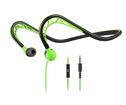 MUCRO Wired Sport Earbuds Compatible In-Ear Stereo Workout Headphones Neckband Running Earphones mucro WL-H131