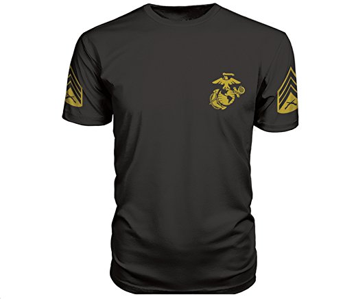 US Marine Corps Sergeant PT T-Shirt (Large, Black) (Corps Marine Tactical Gear)