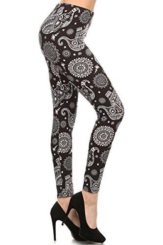 R521-OS Elephant Mandala Print Fashion ()
