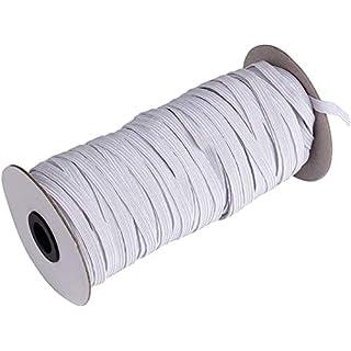 "70-Yards Length 1/4"" Width White Braided Elastic Cord/Elastic"