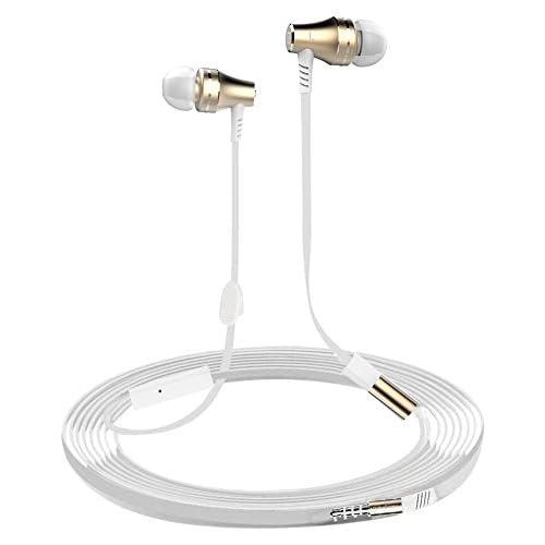 Écouteurs intra-auriculaires ibeek magnétique Câble casque stéréo Basse Casque avec microphone et télécommande réduction du bruit écouteurs pour Phone, iPod, iPad,