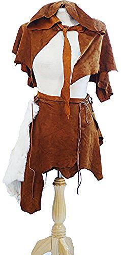 [Medieval-Re-enactment-SCA-Larp-Cosplay-Viking LEATHER WARRIOR PRINCESS - Fits from a UK size 8-14] (Larp Costumes Uk)