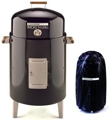 Amazon Com Brinkmann 810 5301 V Smoke N Grill Charcoal Smoker And Grill With Vinyl Cover Black Freestanding Grills Garden Outdoor