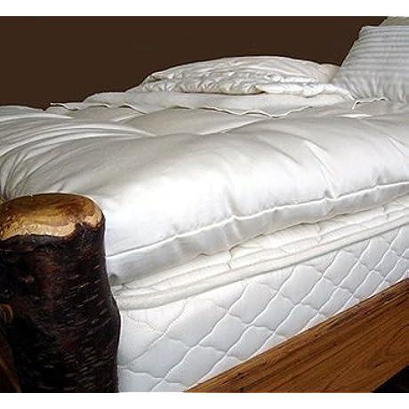 Holy Lamb Organics Wool Mattress Toppers Twin XL Deep Sleep Topper