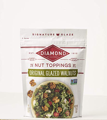 (Diamond of California Original Glazed Walnuts + Nut Toppings, 7.5 Ounce (Pack of 12))