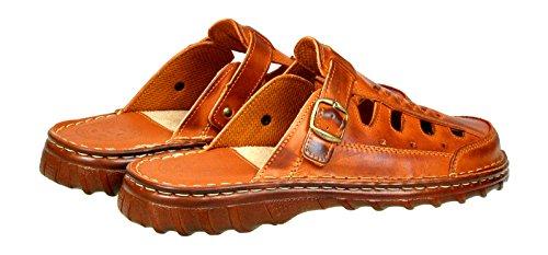 Bufalo Sandali Calzature Comodi Scarpe Uomo Pelle Ortopedica Vera 871 Modello Forma Cognac di t58xq0wcH