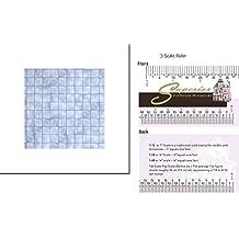 "1"" Scale Dollhouse Floor Paper: Blue Marble Tiles"