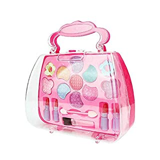 Liveday Girls Toy Beauty Cosmetic Carry Case Pretend Hair Dryer Makeup Role Play Bag Toys for 3-10 Year Old Girls Fit Role Play Game, Princess Dress Up.