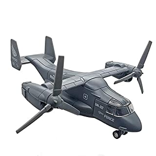 CORPER TOYS Military Helicopter Transport Airplane Fighter Plane Army Air Force Aircraft Die Cast Pull Back Toy with Lights and Sounds for Kids (Gray)
