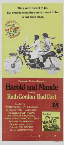 Harold and Maude Poster Movie 20x40 Ruth Gordon Bud Cort Cyril Cusack