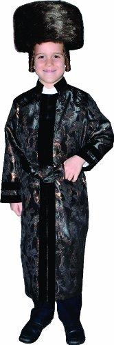 Jewish Rabbi Toddler Costumes (Black Rabbi Coat, Size Toddler 4)
