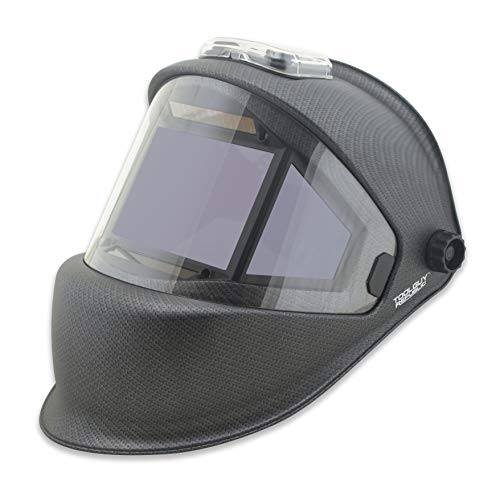 TGR Panoramic 180 View Solar Powered Auto Darkening Welding Helmet - True Color (MATTE CARBON FIBER) by Tool Guy Republic (Image #1)