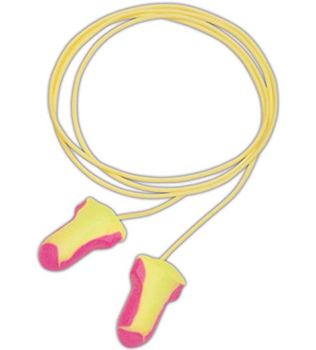 Howard Leight LL-30 Laser Lite Disposable Foam Corded Earplugs, Polyurethane Foam, One Size, Pink/Yellow (Pack of 100)