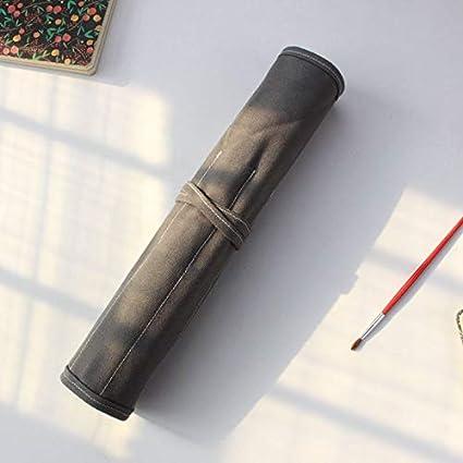 Bolsa enrollable de lona gruesa para pinceles de pintura, 20 ...