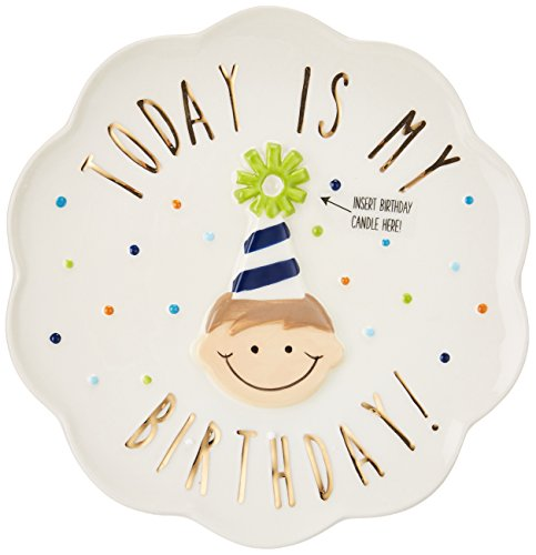 Mud Pie Birthday Boy Celebration Candle Plate