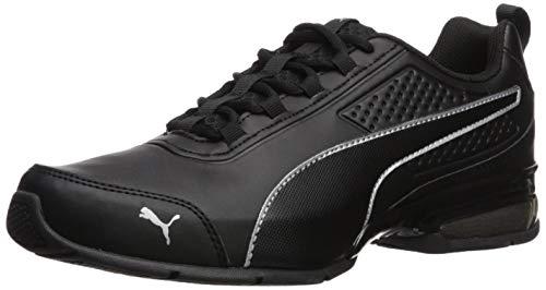 PUMA Men's Leader VT Buck Sneaker, Black Silver, 12 M - Buck Sneaker