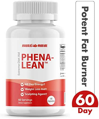 Phena-Lean Premier Fat Burner Supplement from Anabolic Warfare — Thermogenic Diet Pill to Boost Metabolism and Promote Weight Loss*