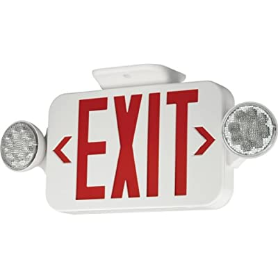 Progress Lighting PE010-30 Exit Signs LED exit sign with red letters