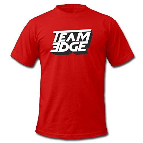 Spreadshirt Team Edge Logo Men's Fine Jersey T-Shirt, S, red - Edge T-shirt