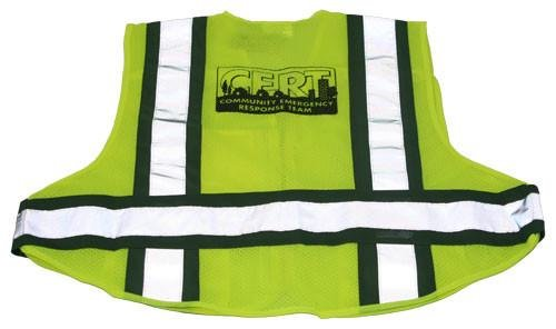 CERT 5-Point Breakaway Mesh Safety Vest - EMS Rated, size: 2X-Large - 5X-Large